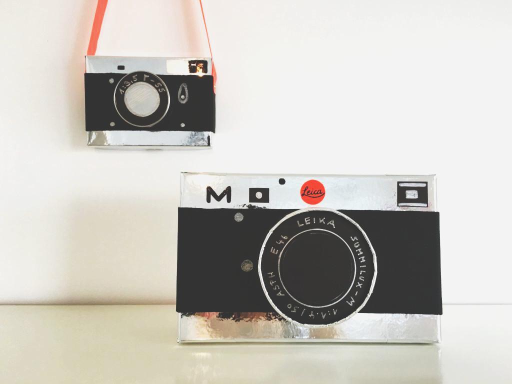 Selbstegebastelte Aufbewahrungsbox für Fotos
