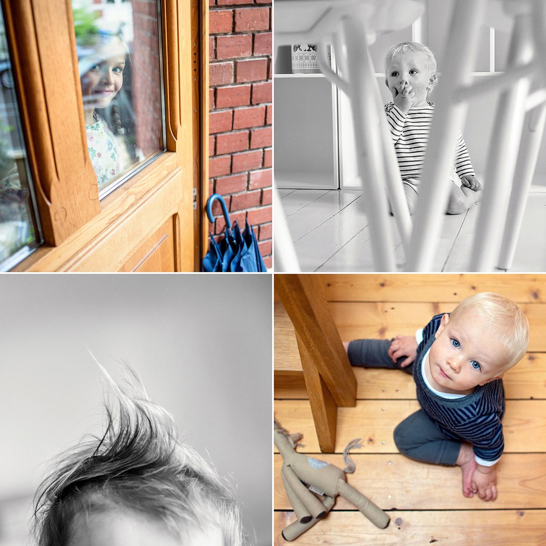 Kinderbilder aus verschiedenen Perspektiven,