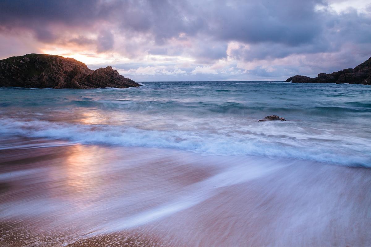 Langzeitbelichtung vom Strand.