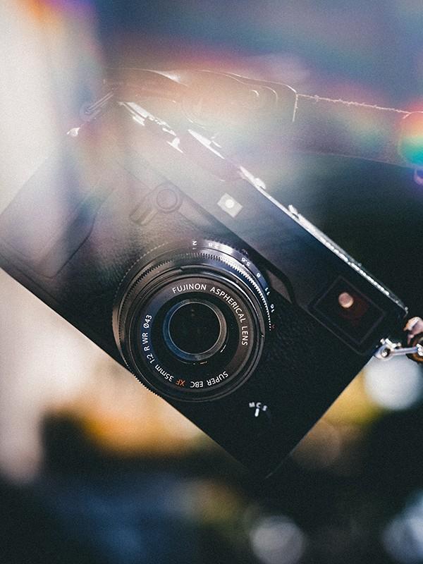 Kamera in gebrochenem Licht.