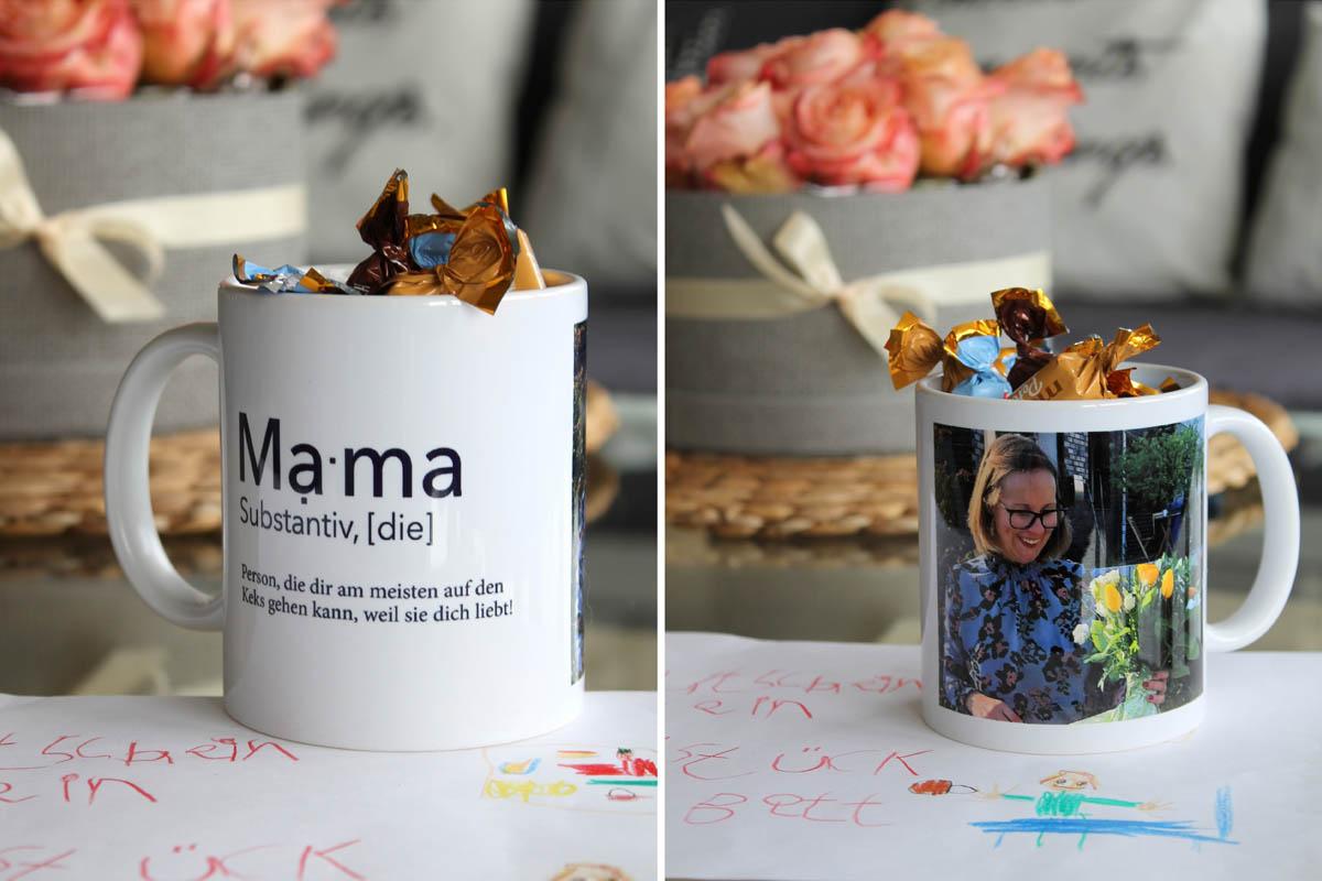 Pixum Design-Fototasse mit artboxONE Design und Foto.