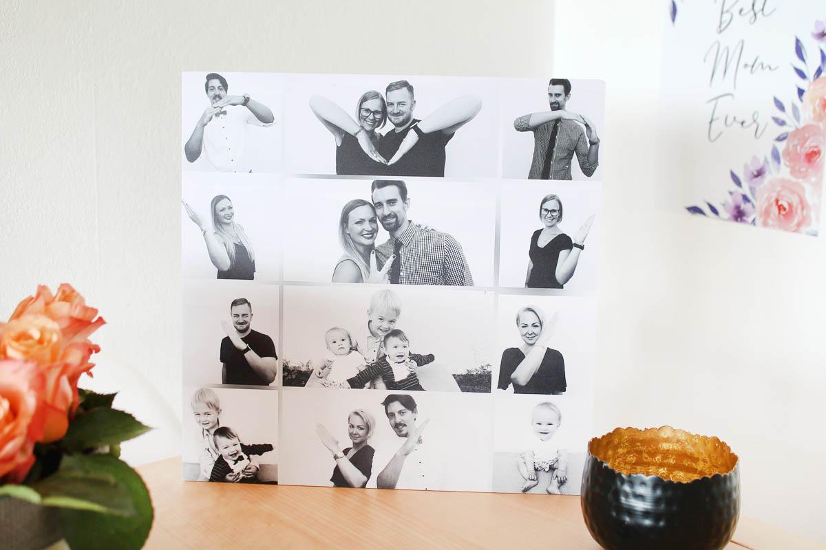 Foto-Collage als Wandbild auf Alu-Dibond.