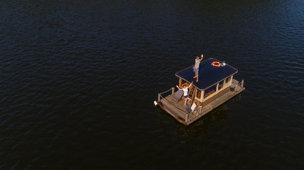 Kleiner Paelitzsee: Drohnenaufnahme