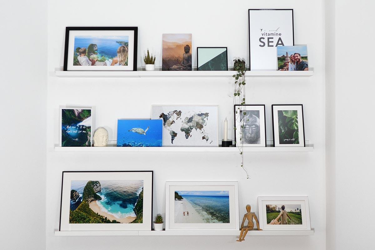 Gallery Wall mit Bilderleisten