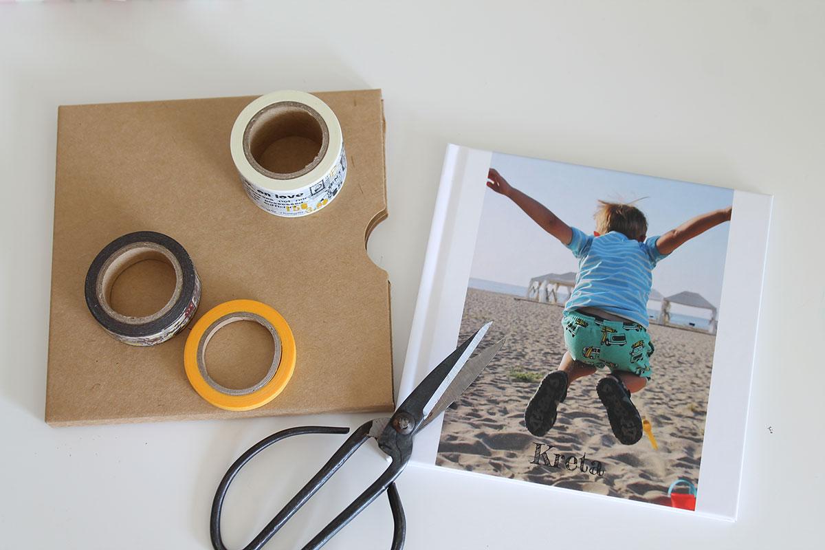 Pixum Fotobuch Insta mit Masking Tape