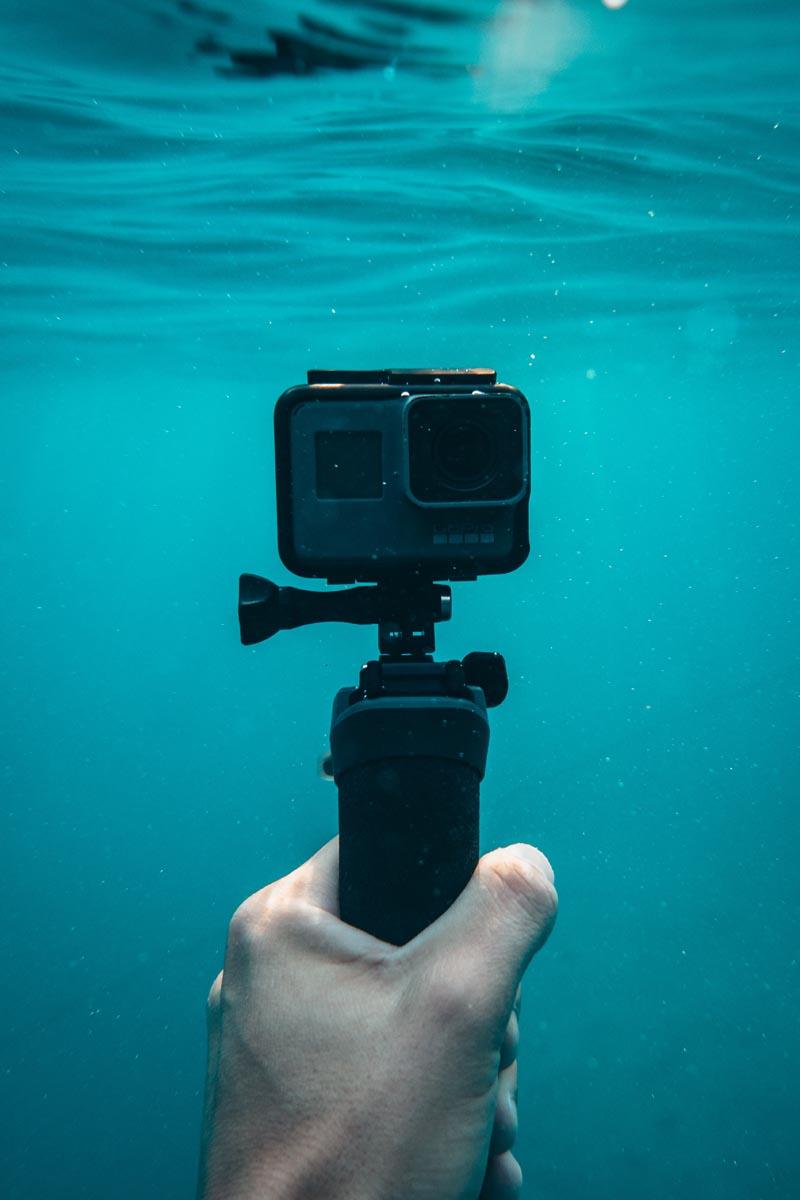 Action Kamera unter Wasser