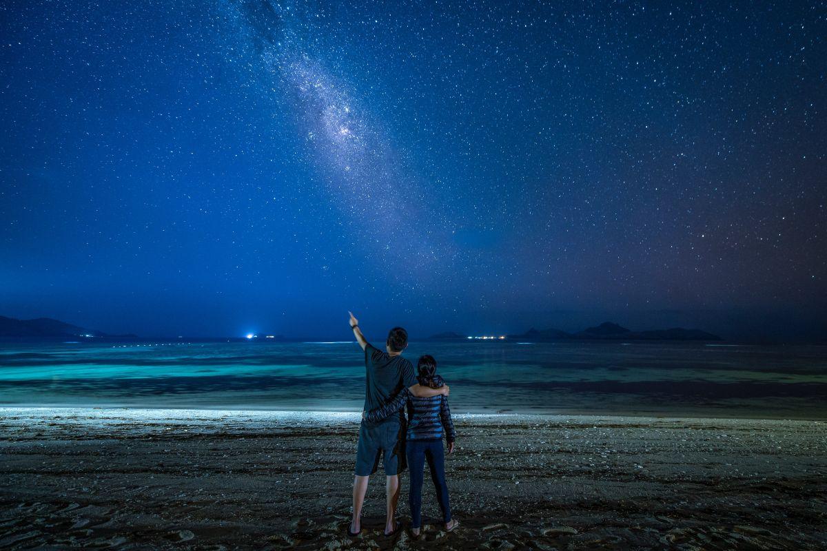 Sternenhimmel Paar