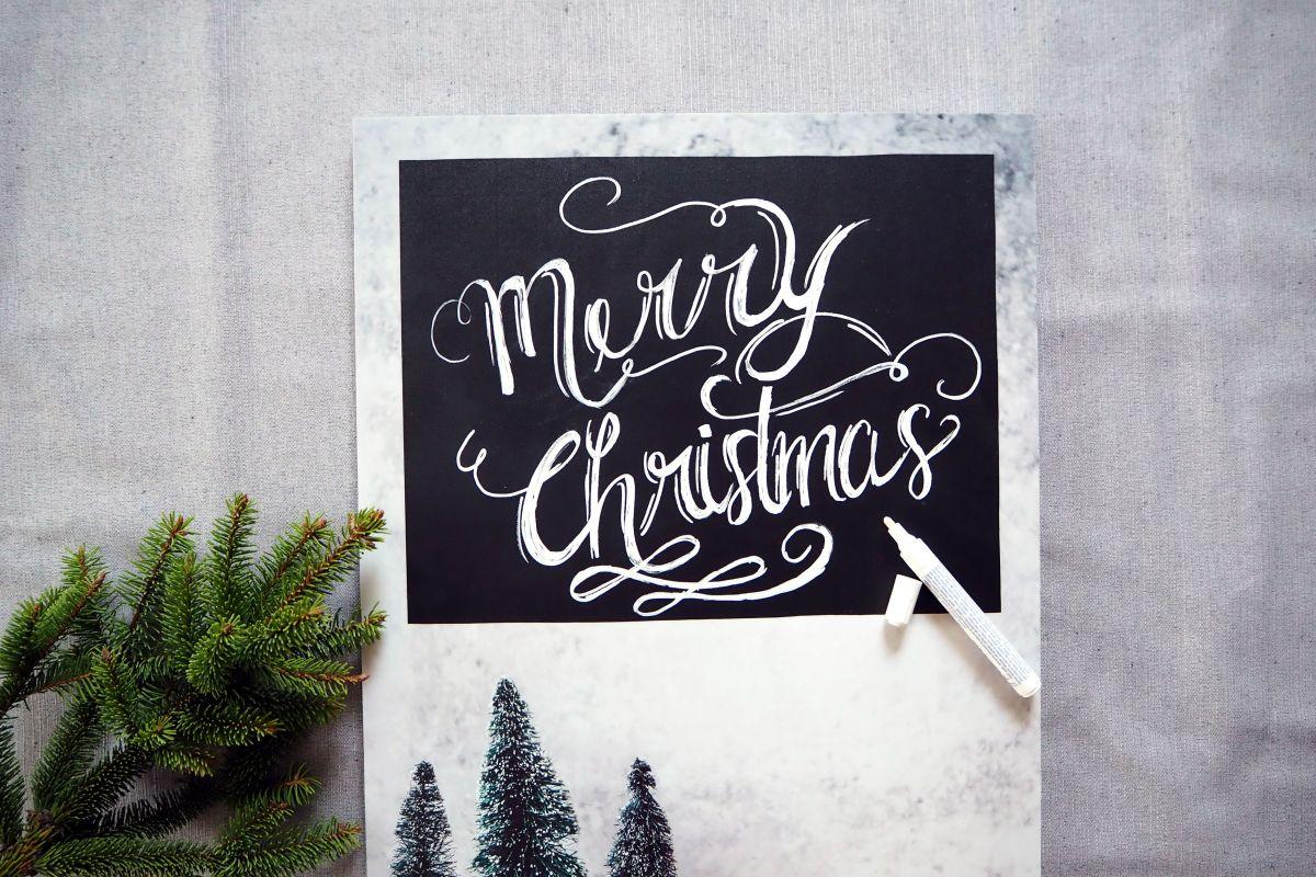 DIY Kreidetafel zu Weihnachten.