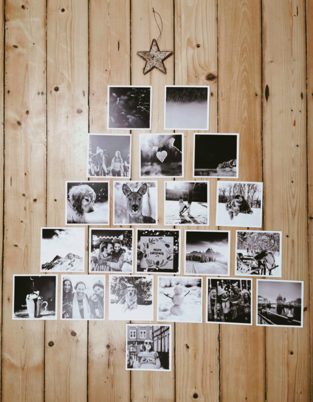 DIY Weihnachtsbaum Alternative aus Pixum Fotoabzügen