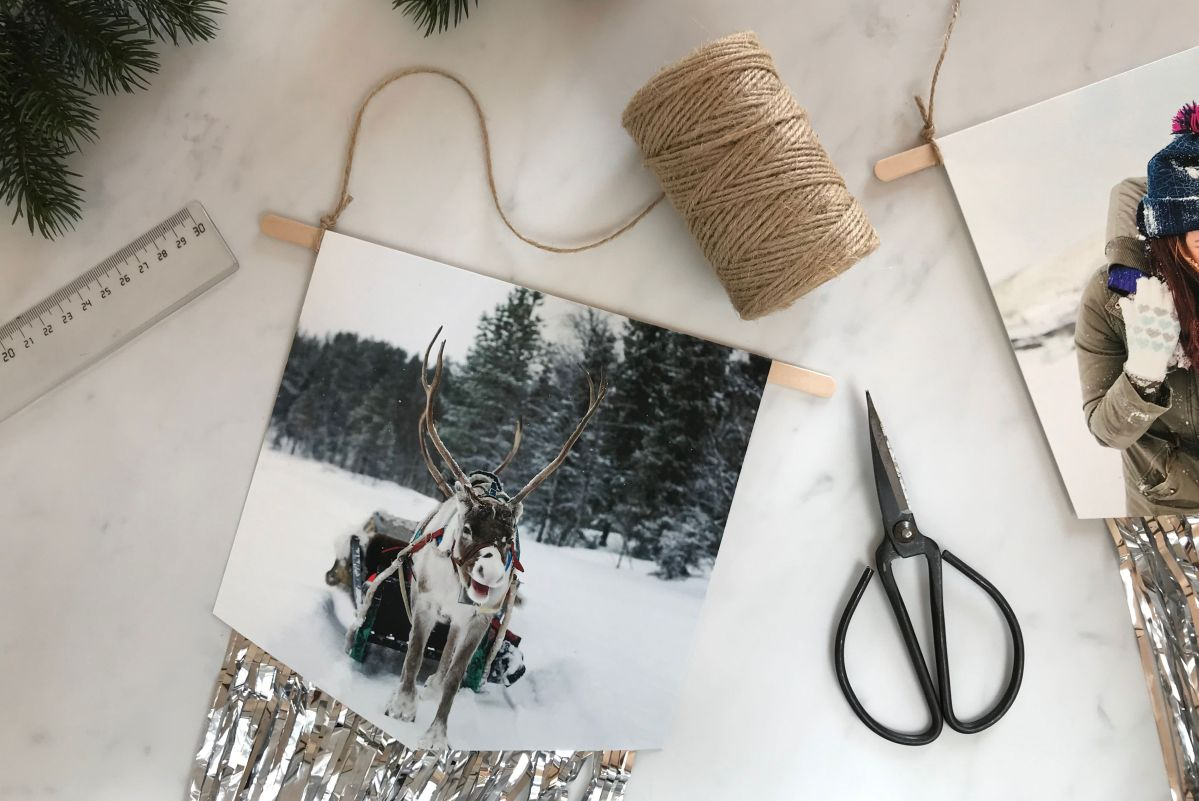 DIY Foto-Wimpelkette basteln.
