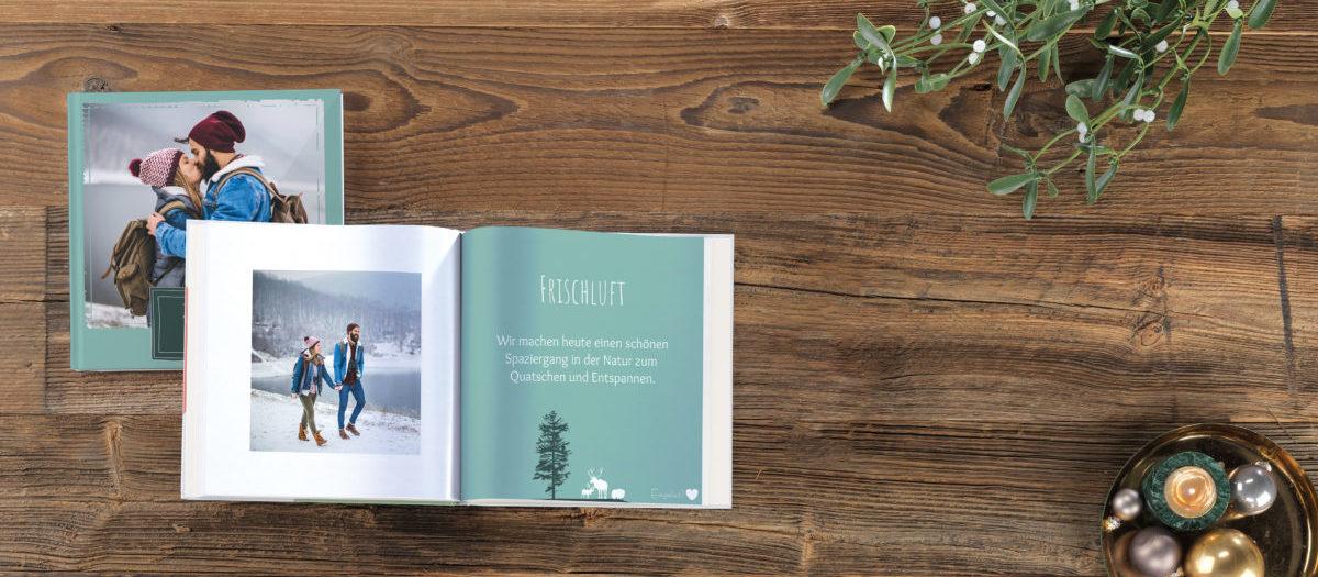 Pixum Fotobuch als weihnachtliches Gutscheinbuch für deine Liebsten als Weihnachtsgeschenk