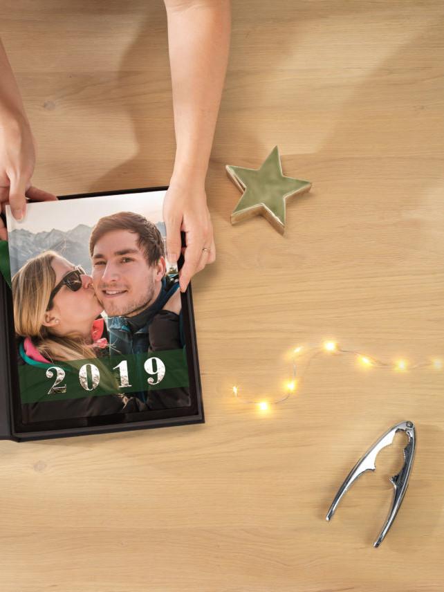 Jahresrückblick als Fotobuch verpackt in Box