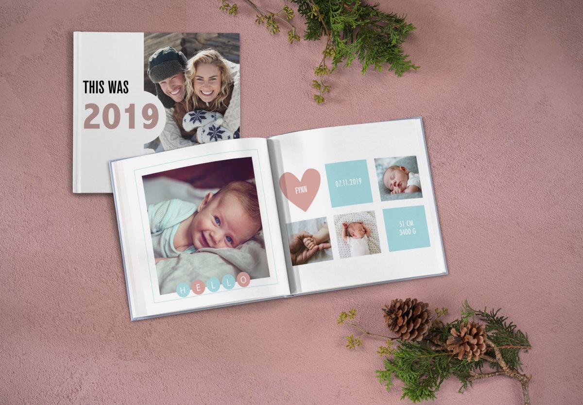 Pixum Fotobuch quadratisch Layout Vorlage
