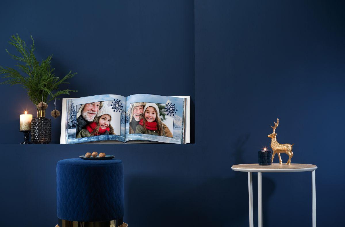 Fotobuch groß quer zu Weihnachten.