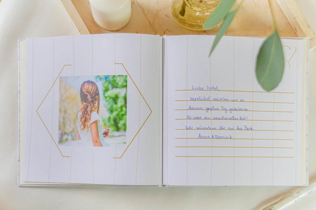 Gästebuch zur Konfirmation Kommunion für Glückwünsche der Gäste