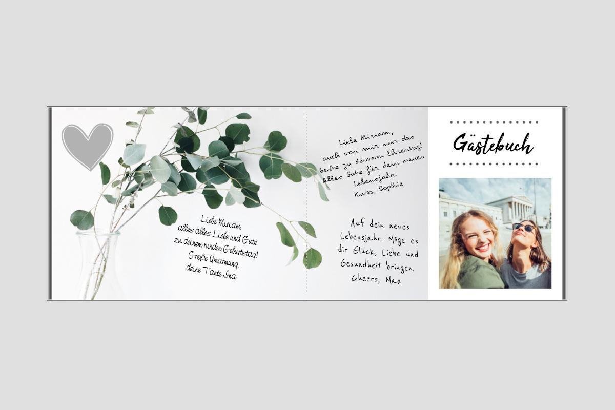 Pixum Fotobuch als Gästebuch für die Geburtstagsparty
