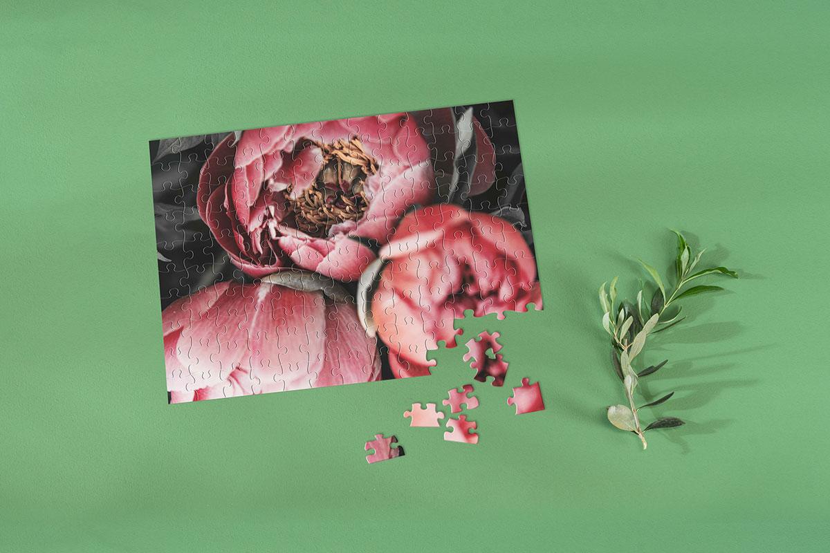 Fotopuzzle mit Blumenmotiv