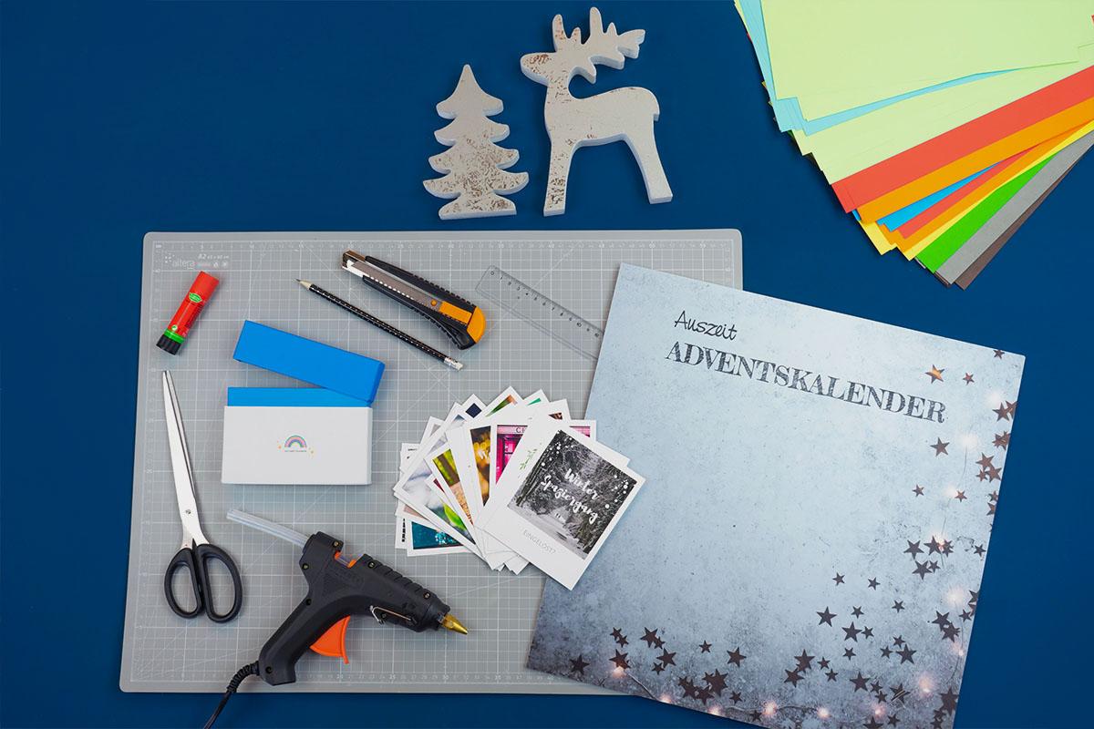 Bastelmaterial für den DIY-Adventskalender