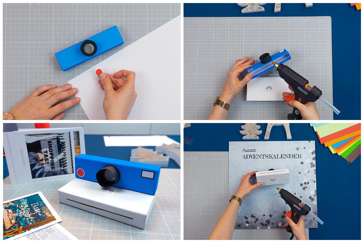 Sensor & Blitz anbringen und Teile verbinden | Bastelschritt 4