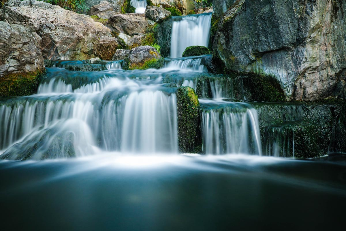 Wasserfall in Bewegung fotografiert